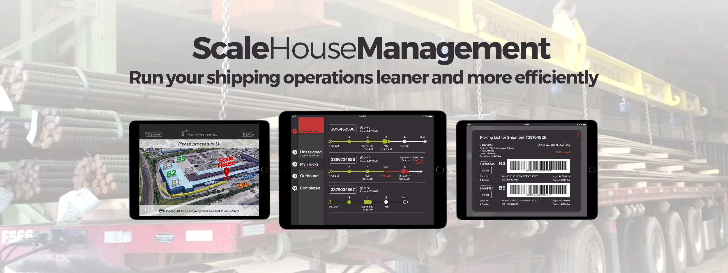 QUAD ScaleHouse Management app